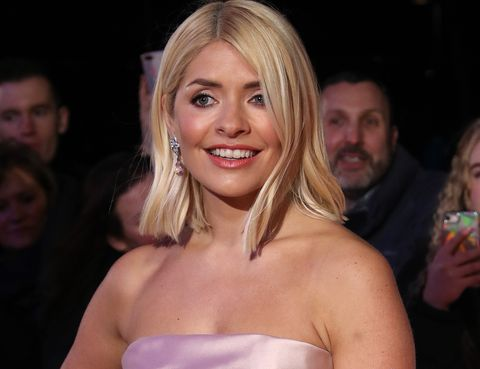 holly willoughby pink polkadot dress from marks  spencer