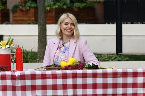 london, england   march 29  holly willoughby  seen filming this morning outside on march 29, 2021 in london, england photo by ricky vigil mgc images