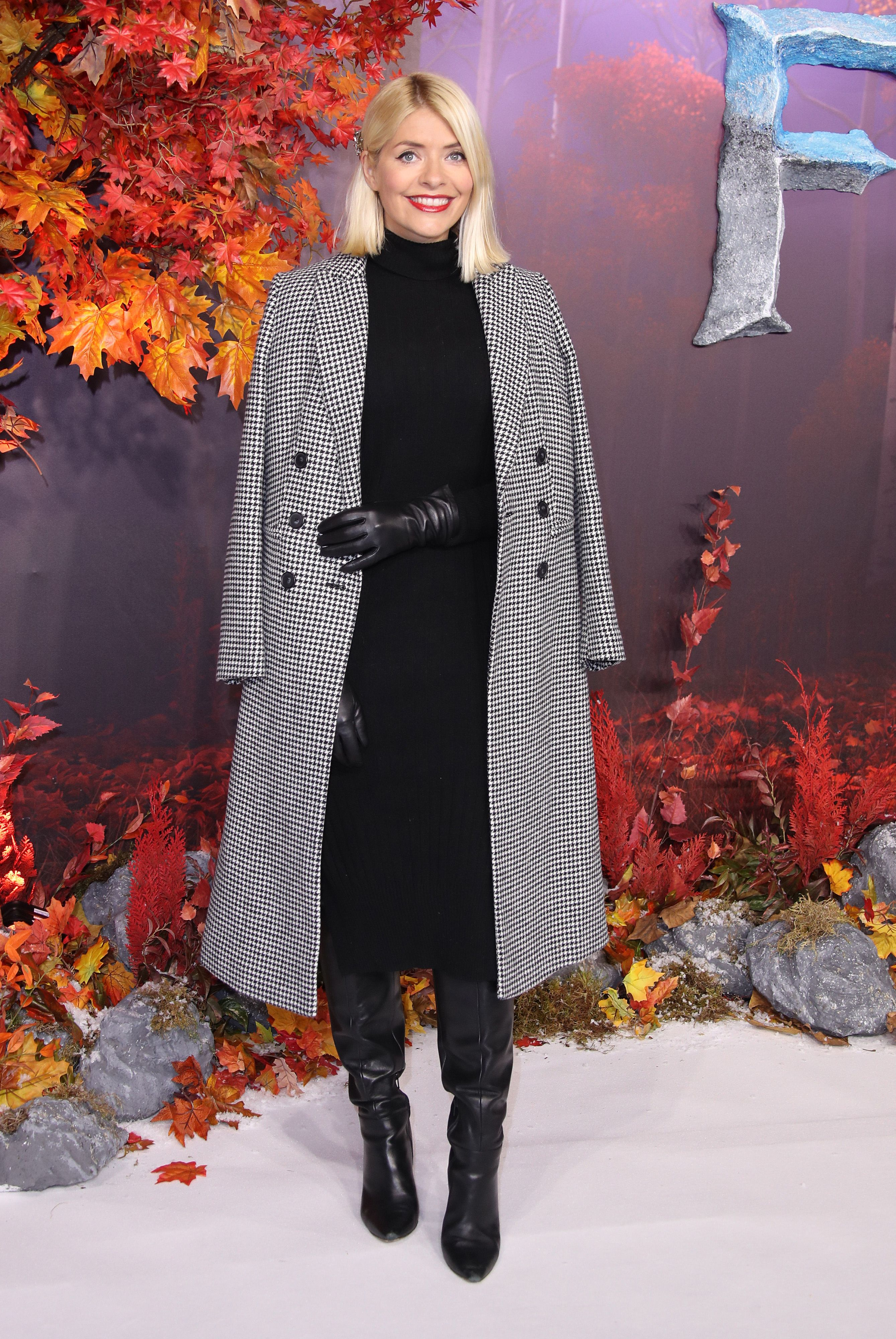 Holly Willoughby wears on-trend Marks & Spencer checked coat