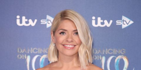 holly willoughby blue ghost dress