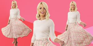 holly willoughby pink skirt this morning