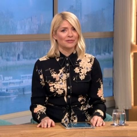 holly willoughby posts rare throwback with dark hair