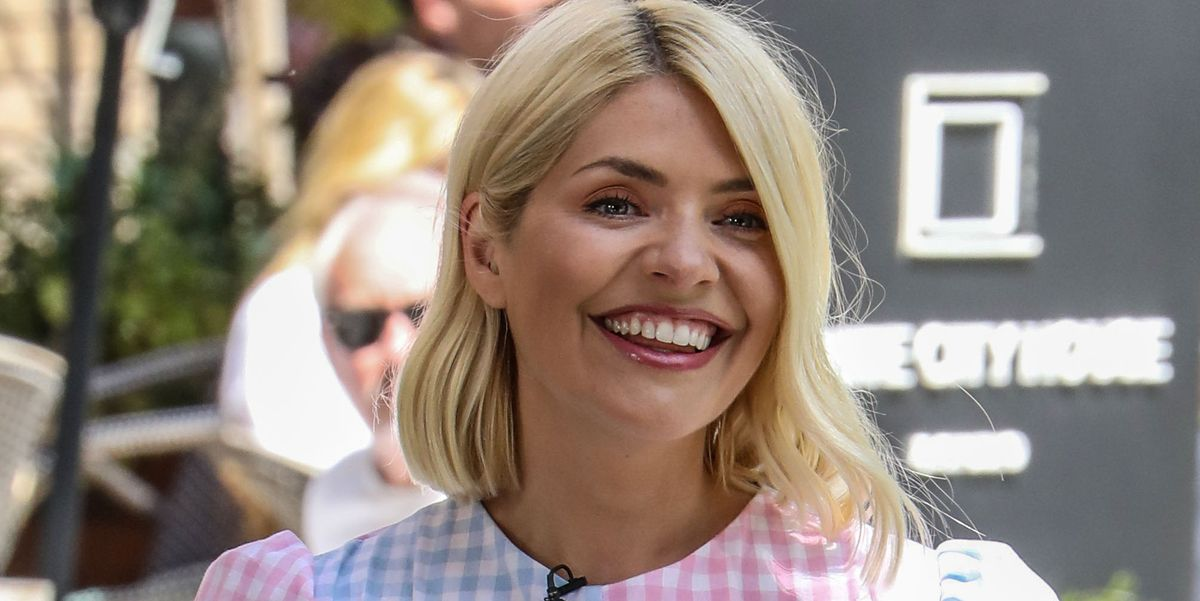 Holly Willoughby is pretty in pink floral maxi dress from M&S
