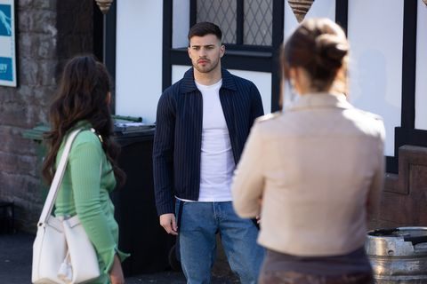 cher mcqueen, romeo nightingale and mercedes mcqueen in hollyoaks