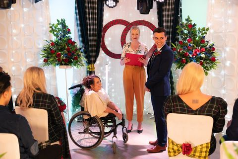 Courtney Campbell and Jesse Donovan's wedding in Hollyoaks