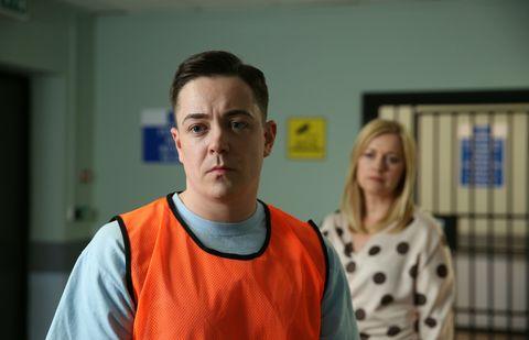 Diane Hutchinson visits Finn O'Connor in Hollyoaks