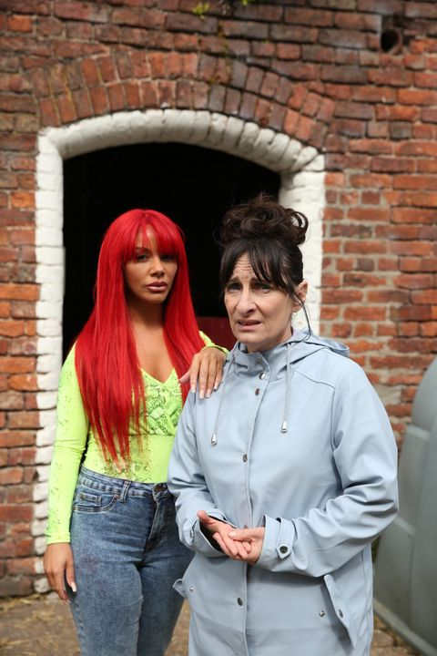 Goldie and Breda McQueen in Hollyoaks