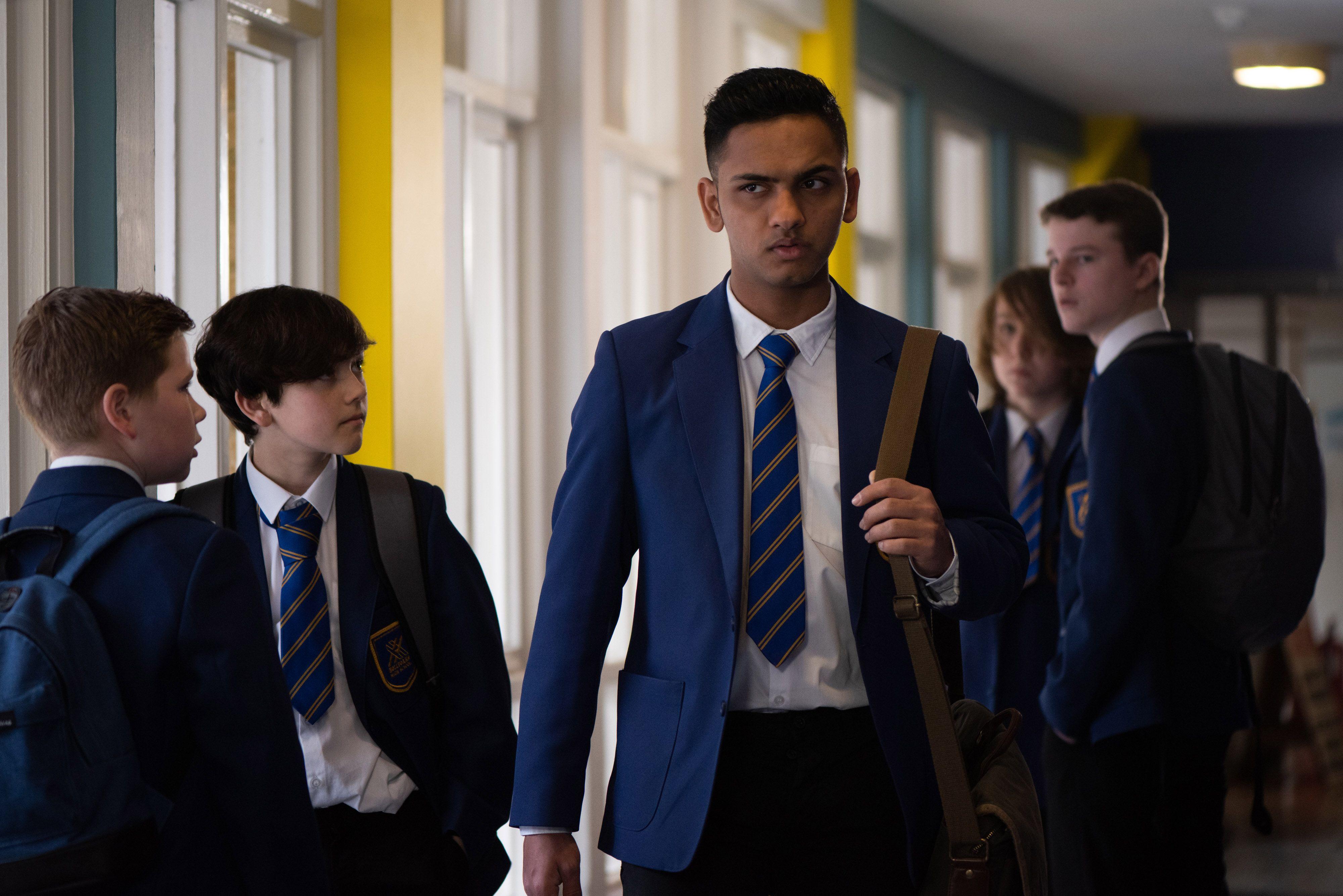 Imran Maalik struggles at school in Hollyoaks