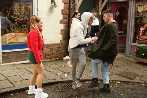 Juliet Quinn, Sid Sumner and Romeo Quinn in Hollyoaks