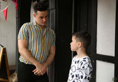 Liam Donovan and Bobby Costello in Hollyoaks