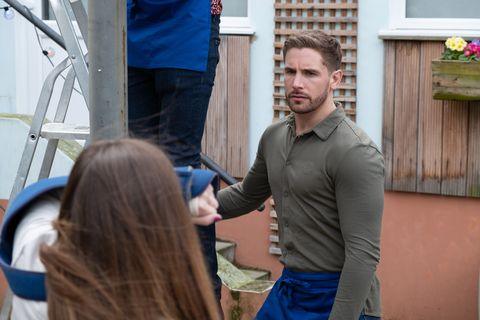 Brody Hudson catches out Maxine Minniver in Hollyoaks