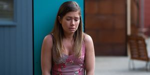 Maxine Minniver meets an elderly patient in Hollyoaks