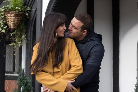 Mercedes McQueen and Warren Fox in Hollyoaks