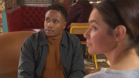 Mitchell Deveraux on a date in Hollyoaks