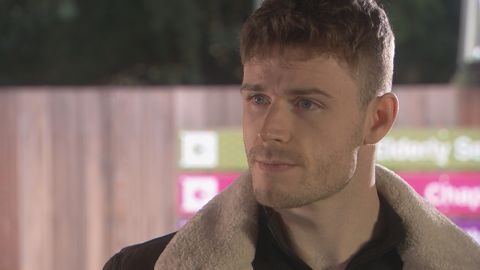 pc george kiss in hollyoaks