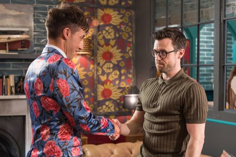Scott Drinkwell and Levi Rochester go on a date in Hollyoaks