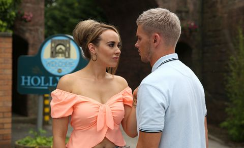 Sinead Shelby and Ste Hay in Hollyoaks