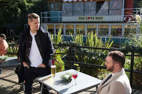 John Paul McQueen and James Nightingale in Hollyoaks