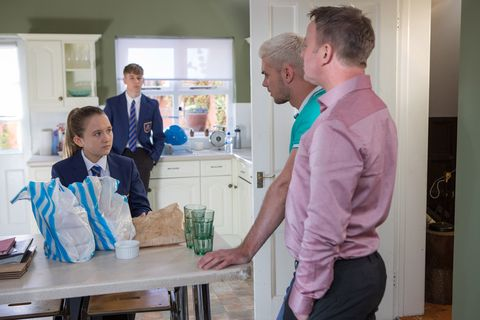 Leah Barnes clashes with Ste Hay in Hollyoaks
