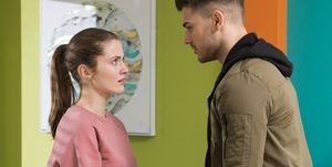 Lily McQueen and Romeo Quinn in Hollyoaks