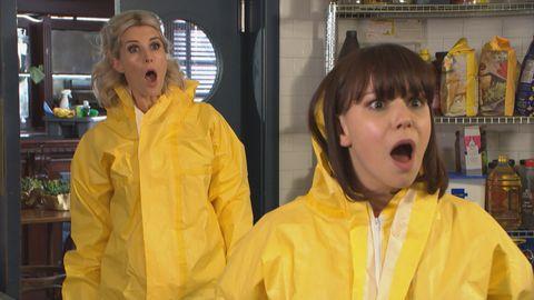 Mandy Richardson and Nancy Osborne in Hollyoaks
