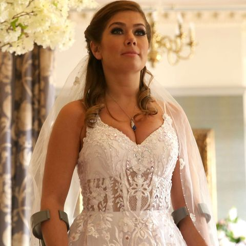 Maxine Minniver on her wedding day in Hollyoaks