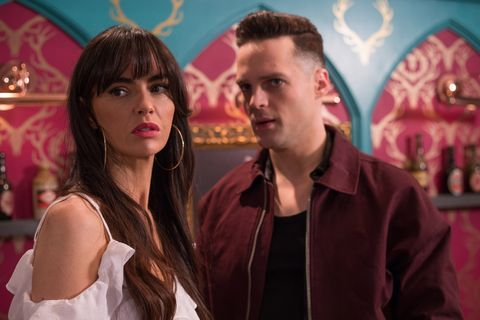 Mercedes McQueen and Liam Donovan in Hollyoaks