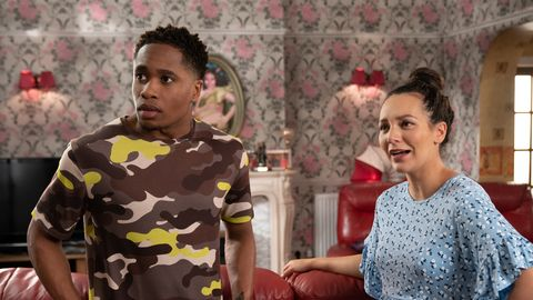 Mitchell Deveraux and Cleo McQueen in Hollyoaks