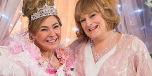 Myra McQueen and Sally St Claire's wedding in Hollyoaks