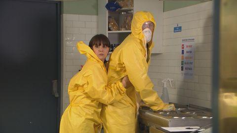 Nancy and Darren Osborne in Hollyoaks