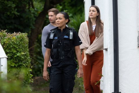 brody hudson and sienna blake arrive at a safe house in hollyoaks