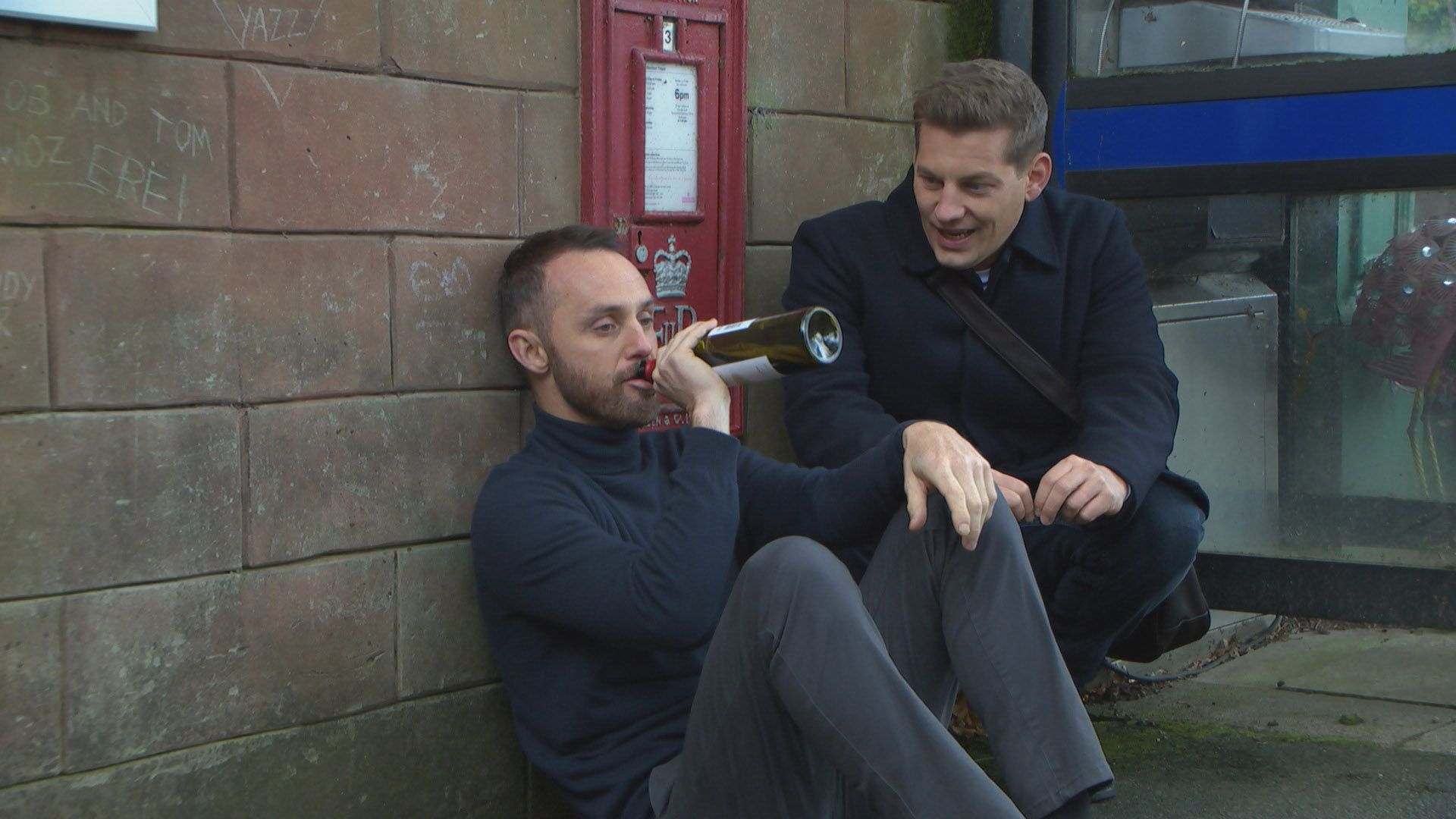 Hollyoaks' James Nightingale hits rock bottom in sad new scenes
