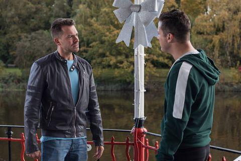 Darren Osborne tracks down Luke Morgan in Hollyoaks