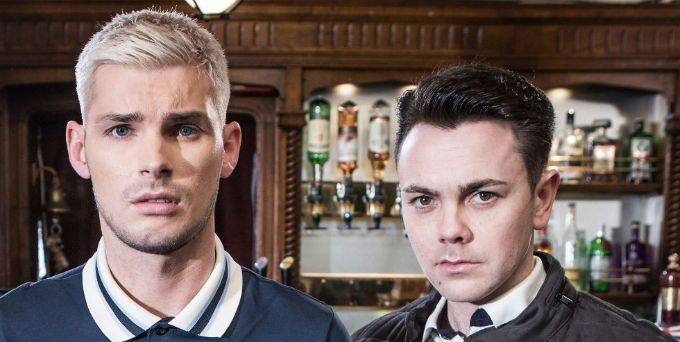 Ste Hay and Jonny Baxter in Hollyoaks