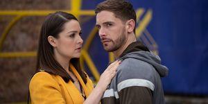 Brody Hudson comforts Sienna Blake in Hollyoaks