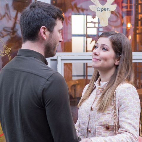 Damon Kinsella and Maxine Minniver in Hollyoaks