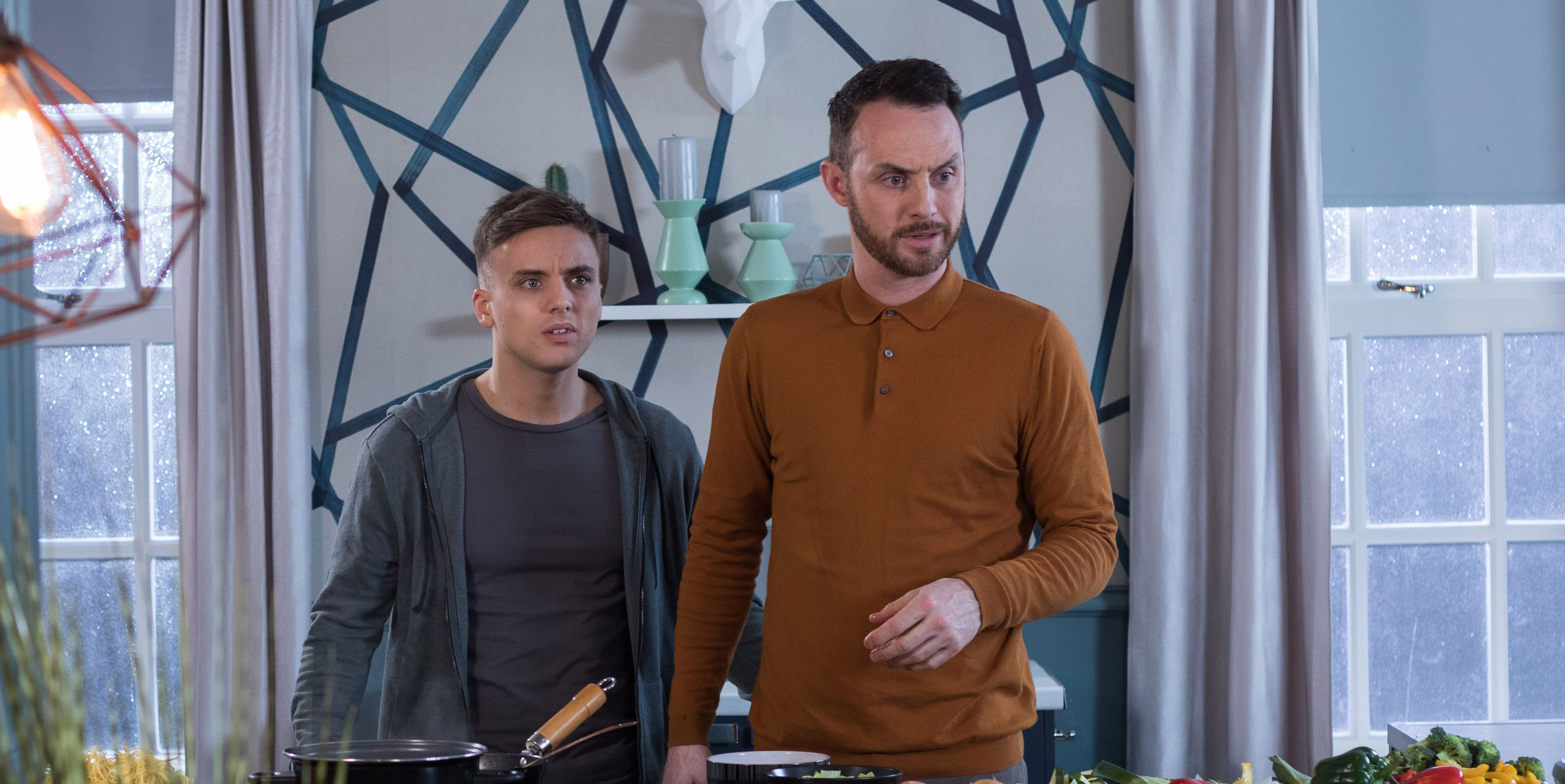 Harry Thompson is arrested in front of James Nightingale and Romeo Quinn in Hollyoaks