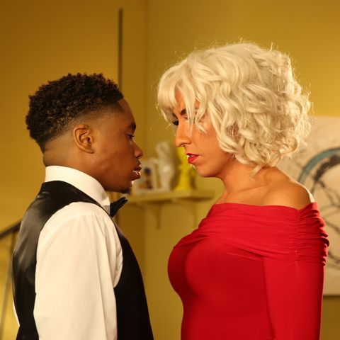 Mitchell Deveraux and Anita Tinkle in Hollyoaks