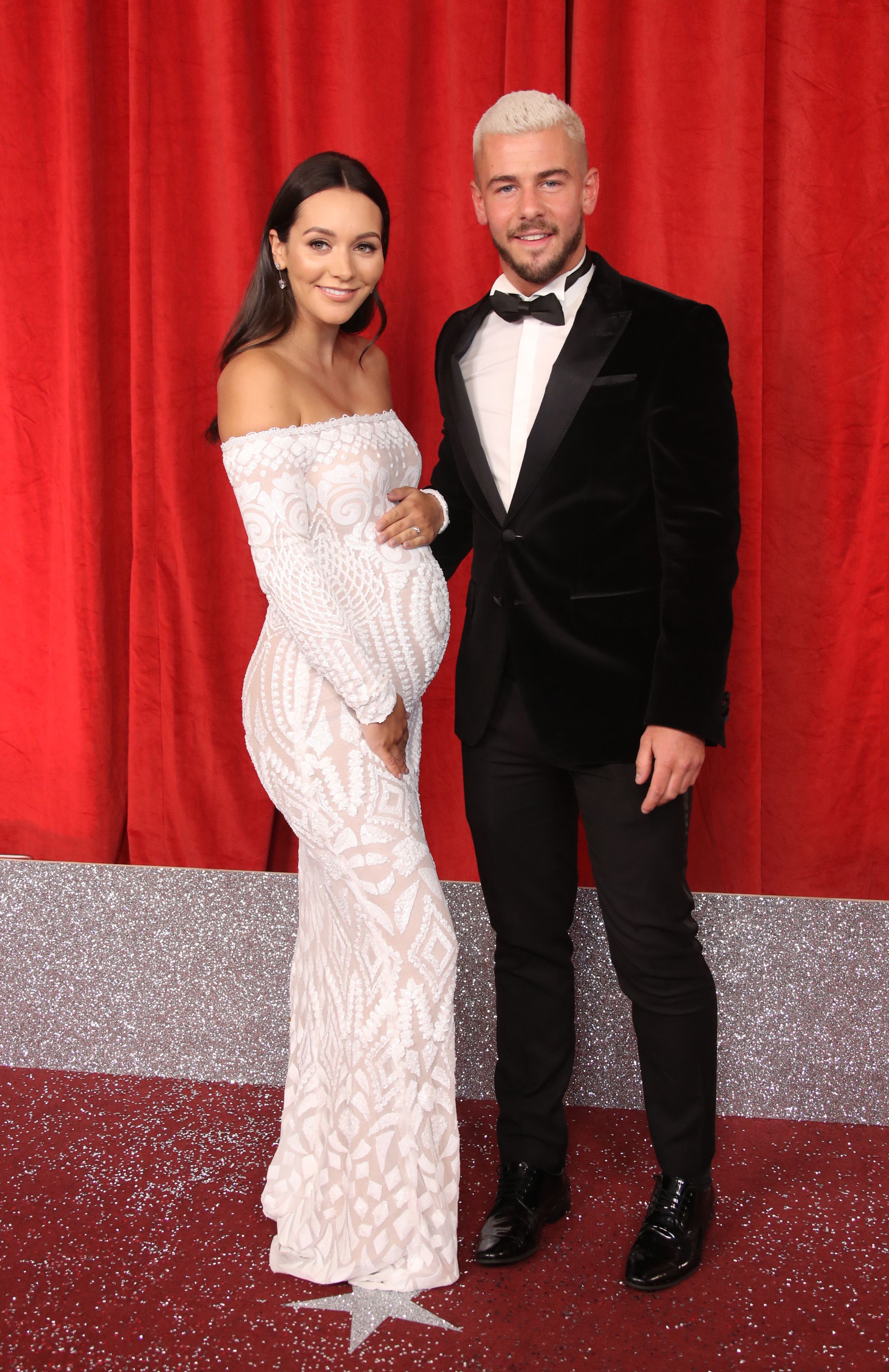 Hollyoaks' real-life couple Nadine Mulkerrin and Rory Douglas-Speed introduce newborn son to the soap's cast