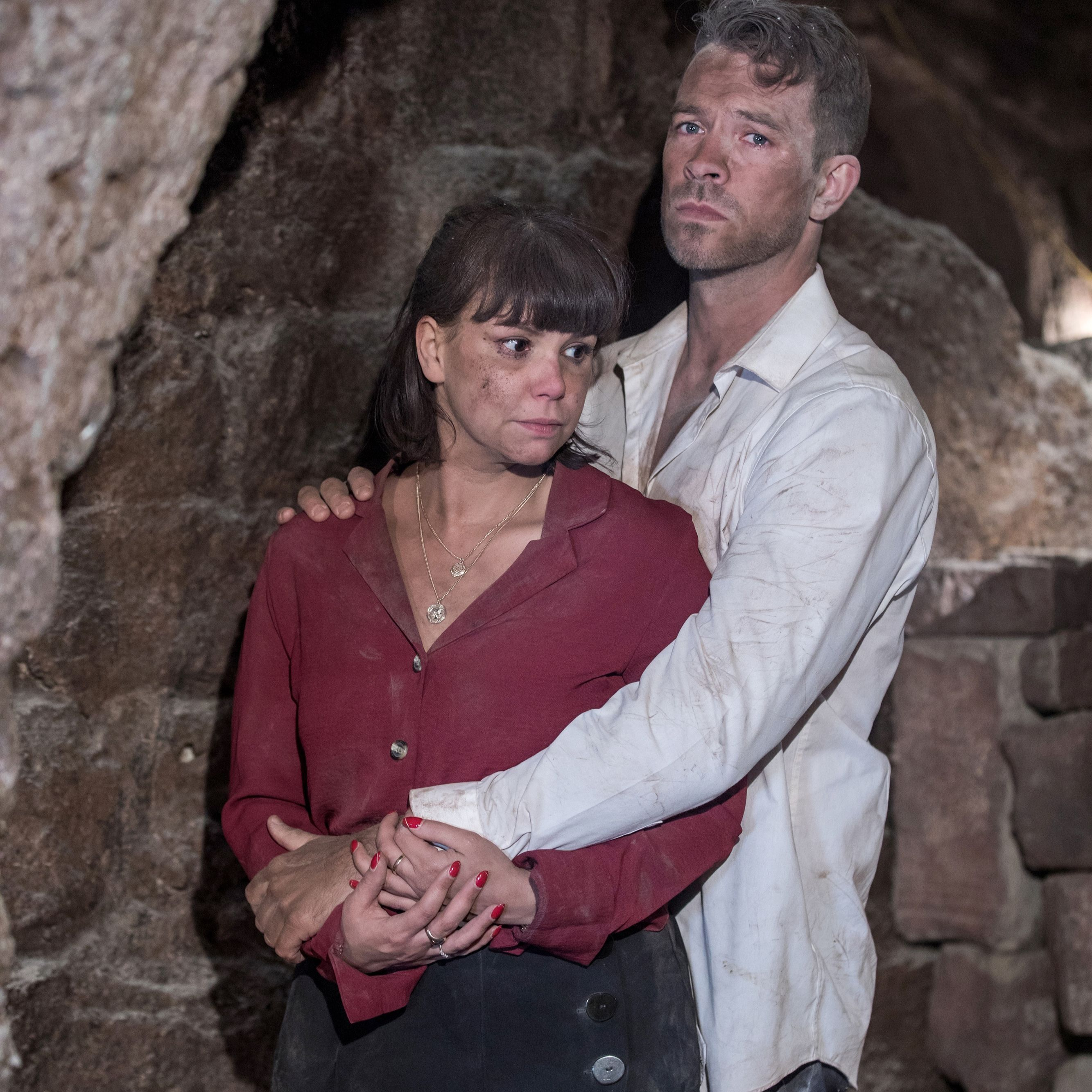 Hollyoaks' Darren and Nancy have their sex secret uncovered