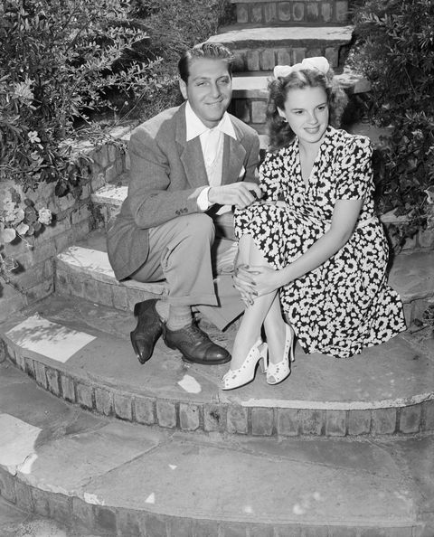 Judy Garland Outside with Fiance David Rose