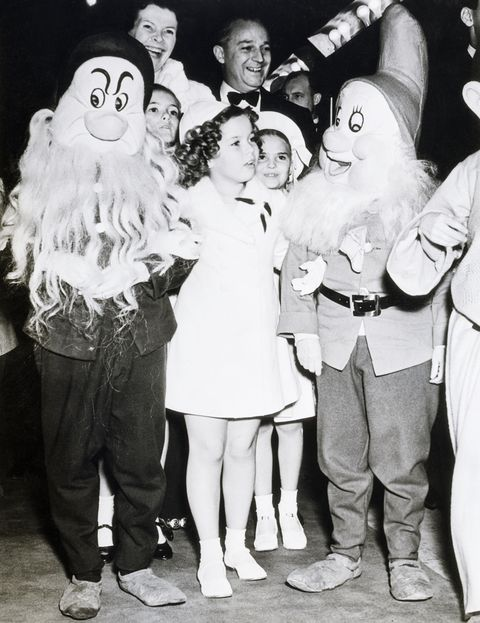 shirley temple with two of seven dwarfs