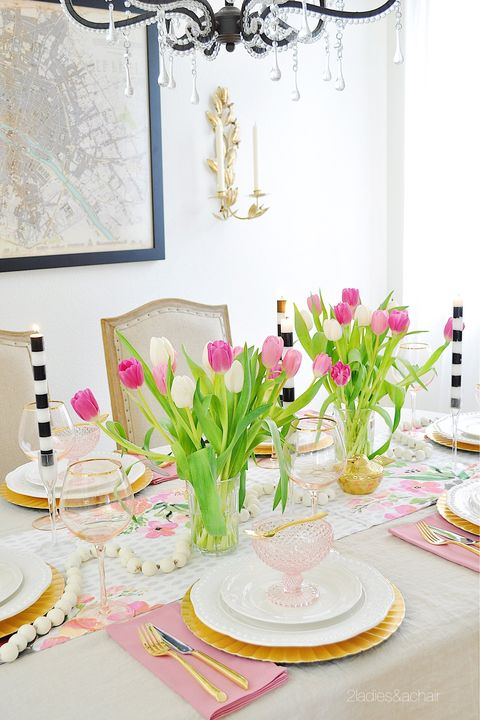 hollywood regency easter table decorations