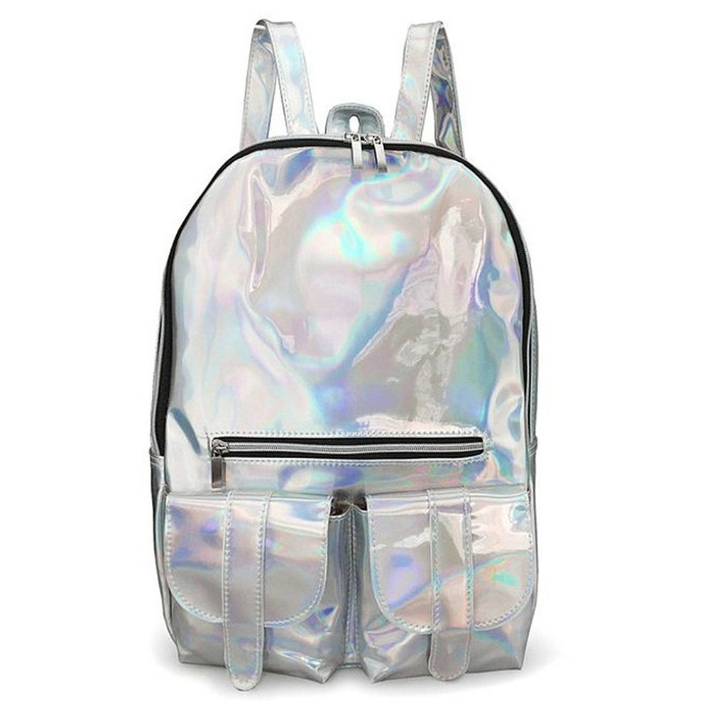 rainbow hologram backpack