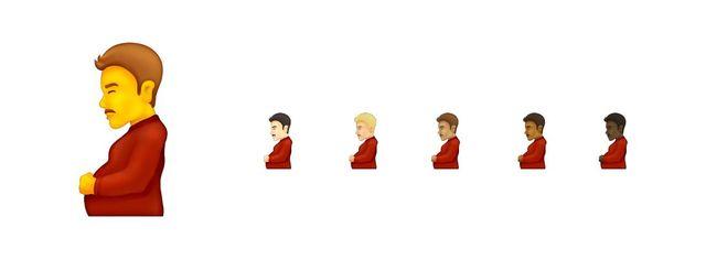 nuevos emoticonos del hombre embarazado
