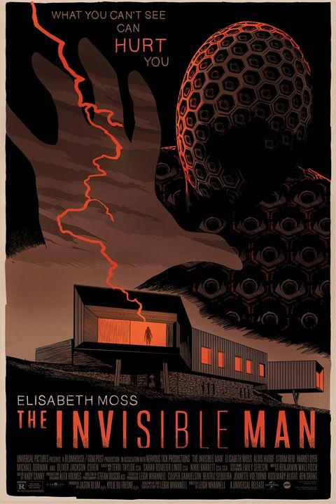 póster mondo de el hombre invisible, la versión de leigh whannell en 2020