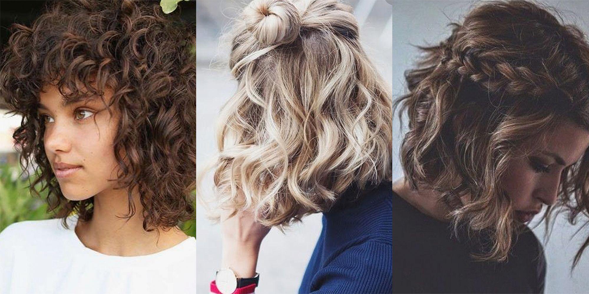 Peinados recogidos cabello corto rizado