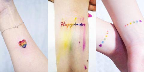 20 Tatuajes De Arcoiris Para Celebrar El Orgullo Tatuajes Pequeños