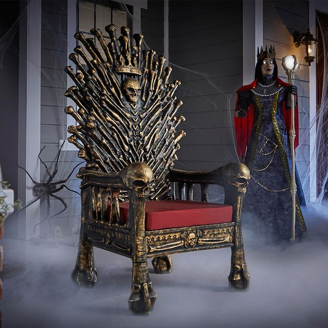 home accents holiday 5 foot halloween bone throne