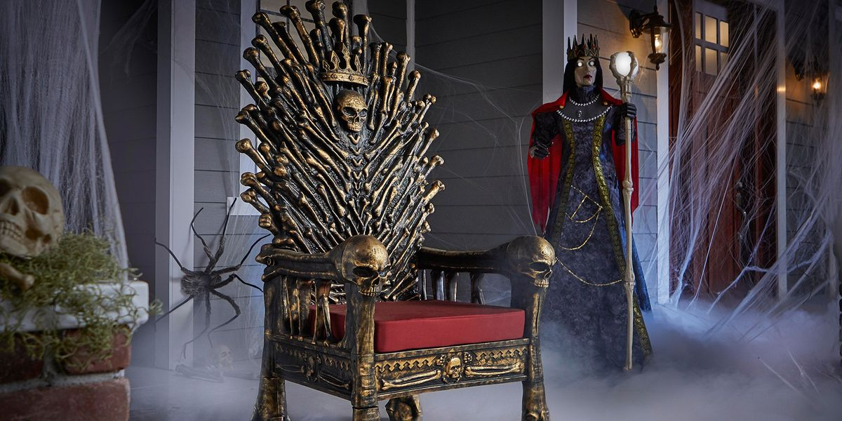 You Can Get a 5-Foot Bone Throne That Will Make You the King or Queen of Halloween